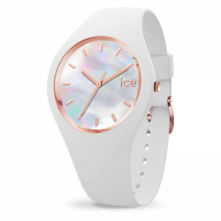 Montre Ice Watch Pearl Silicone Blanche (M)
