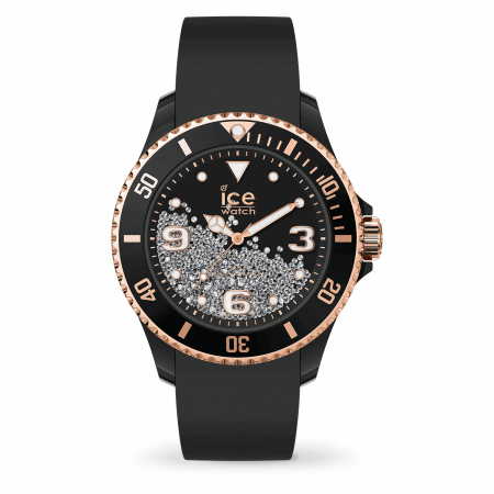 Montre Ice Watch Crystal Silicone Noir