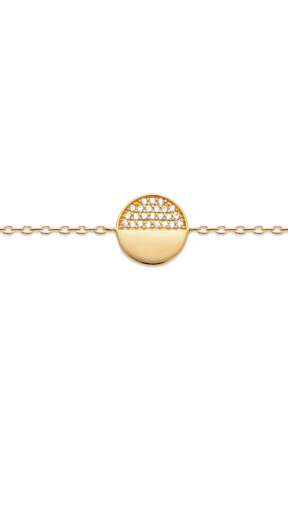 bracelet plaqué or zirconia demi lune-Antarès