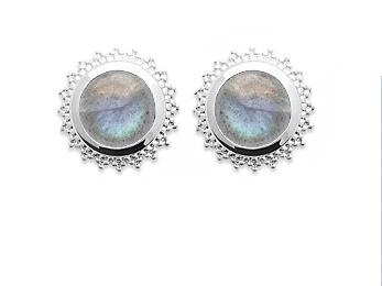 Boucles d'oreilles en argent Labradorite -Pierres naturelles-