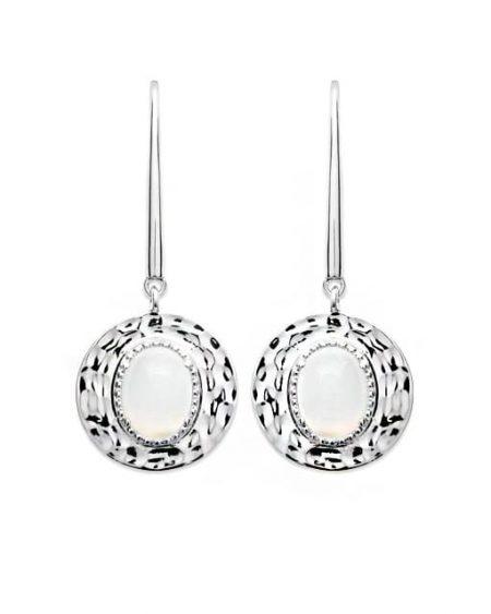 Boucles d'oreilles en argent Pierre de Lune -Pierres naturelles-