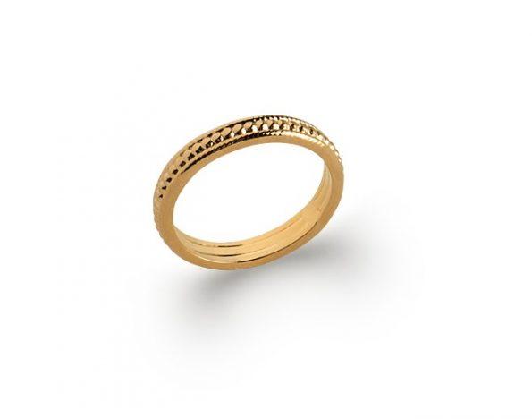 Bague plaqué or -Nomade-