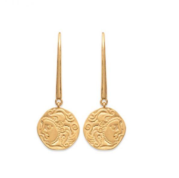 Boucles d'oreilles en plaqué or -Nomade-