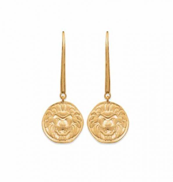 Boucles d'oreilles plaqué or -Nomade-