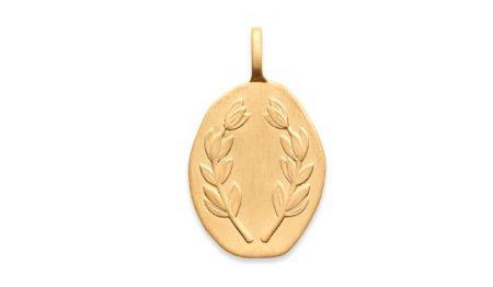 Pendentif plaqué or -Nomade-