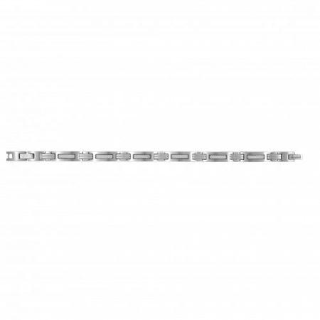 Bracelet Homme Acier Carbone Blanc