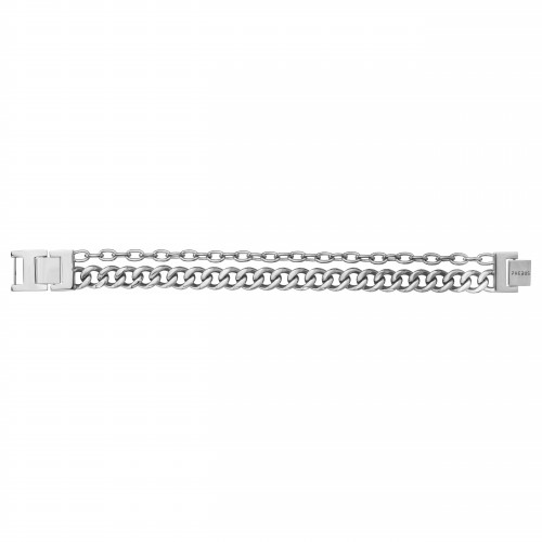Bracelet Homme Acier Double Chaine