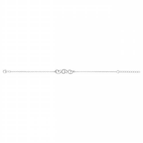 Bracelet arabesque argent zirconia