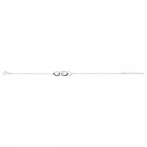 Bracelet Argent Zirconium Noir et Blanc