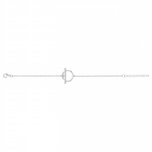 Bracelet argent zirconia