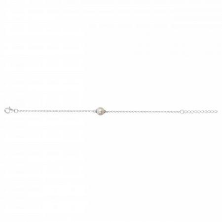 Bracelet Argent Rhodié Perle Naturelle