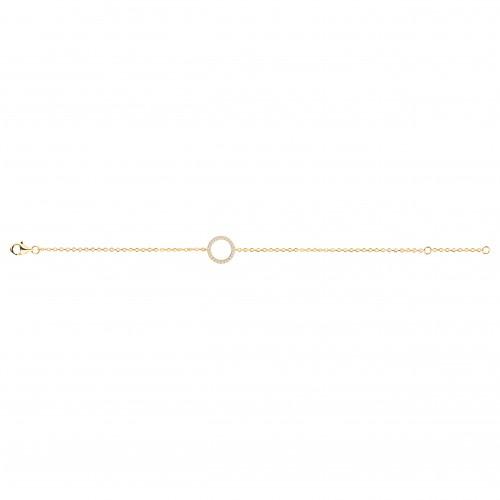 Bracelet Plaqué Or Cercle Zirconium