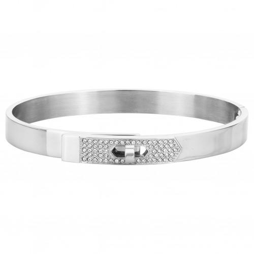 Bracelet Jonc Acier Zirconia