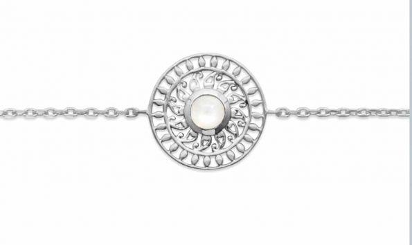 Bracelet en argent Pierre de Lune -Pierres naturelles-