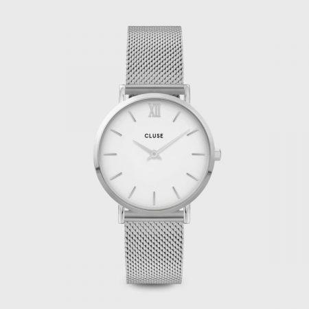 Montre Cluse Minuit Silver White