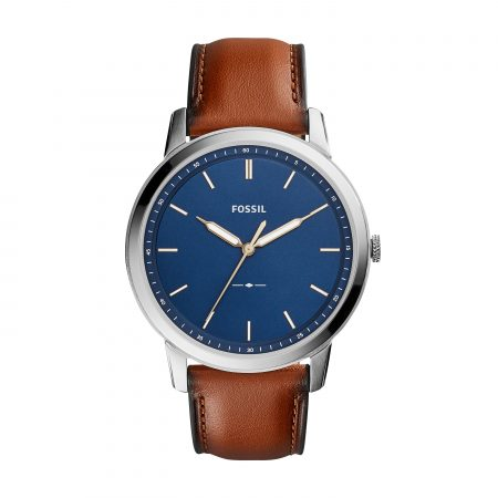 Montre Fossil cuir marron The minimalist