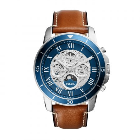 Montre Fossil cuir marron Grant Automatic