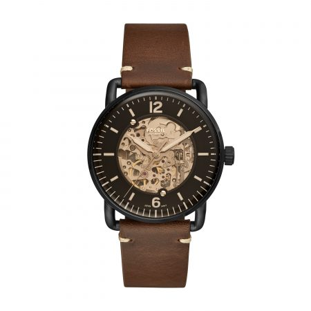 Montre Fossil cuir marron The commuter