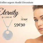 Collier Argent Zirconium Eternity