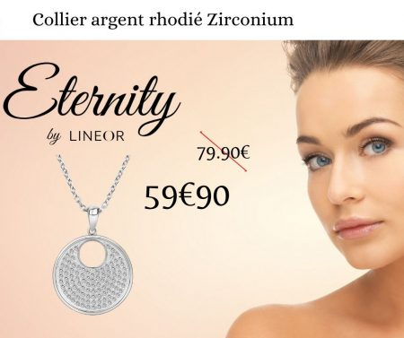 Collier Argent Zirconium Eternity
