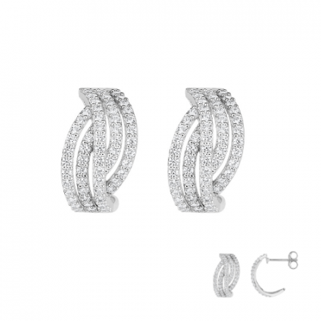 Bague Or 375 Bicolore Zirconium Trilogie